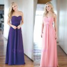 Sweetheart Ruched Length 2016 Purple Pink Simple Bridesmaids Dresses