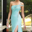New Long Sexy Evening Party One-shoulder beads Prom Gown Formal Bridesmaid Cocktail Dress