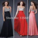 2015 New Fashion Sexy Long Prom Dress Bead Gown Ball Gowns Homecoming Dress Backless