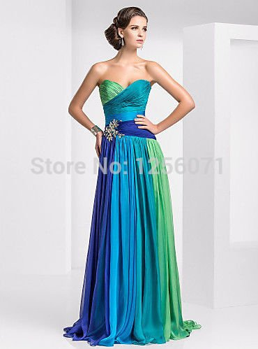 2015 New long PROM dresses Strapless PROM dress Cocktail dress
