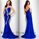 2015 Evening Dresses Sweetheart Sleeveless Applique Floor Chiffon Zipper Wedding Party Gowns