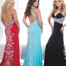 Backless Long evening Dresses Sexy Sweetheart straight Long Evening Dress