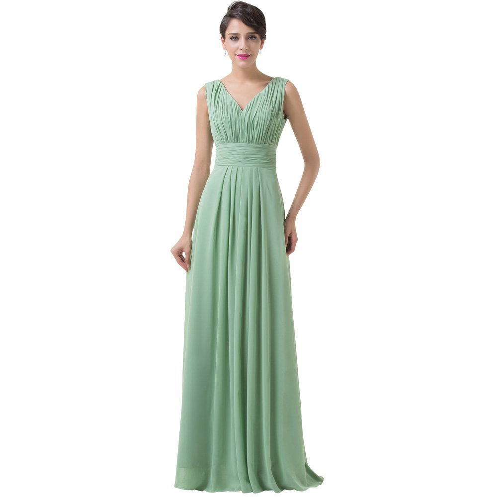 Custom Size Women Sexy Prom Dresses A Line V Neck Long Formal prom Gown