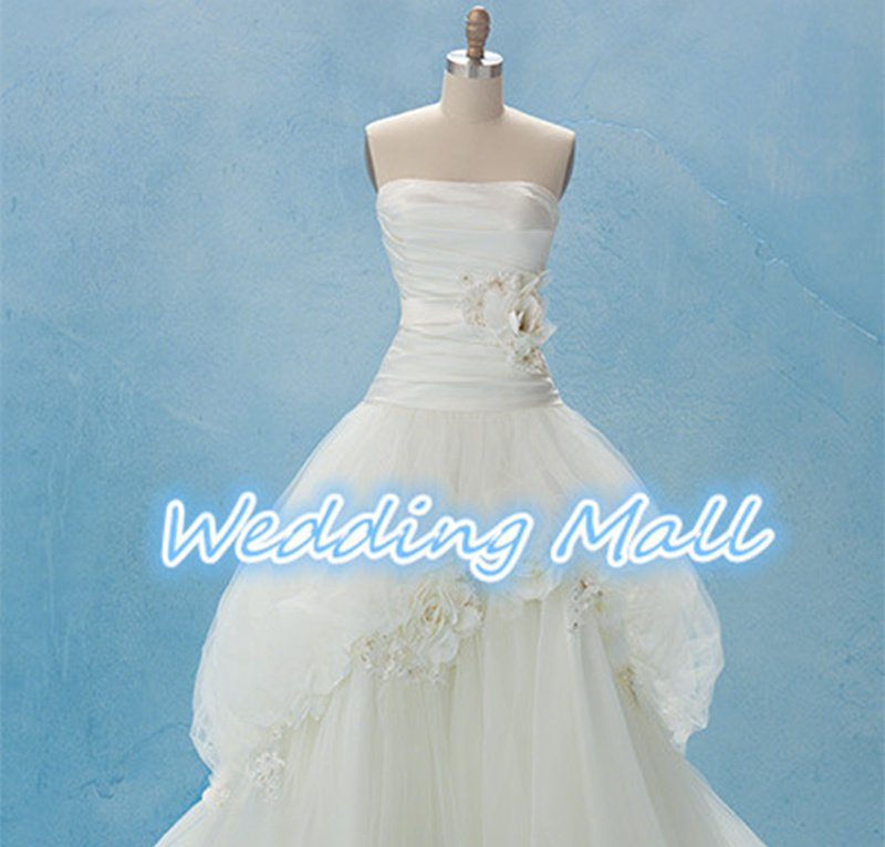 New Brand Wedding Gowns A-Line Sweetheart Organza Flower Long Bridal Plus Size Wedding Dress