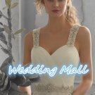 Fashionable Wedding Dress Chiffon Luxury Beaded Crystal Spaghetti Straps A-Line Wedding Dress