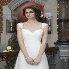 Long Sweetheart Backless Bridal Dress A-Line Fashionable White Plus Size Wedding Dress