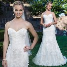 New Appliques Romantic White Ivory Sexy Long Wedding Dress A-Line Backless Lace Wedding Dress