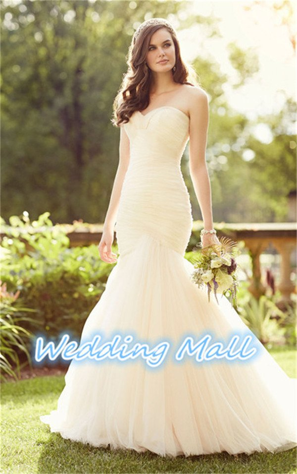 New Wedding Bride Dress Sweetheart Backless Mermaid Bride Dress Custom Bride Wedding Dress