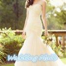 New Wedding Bride Dress Sweetheart Backless Mermaid Bride Dress Custom Bride Wedding Dress