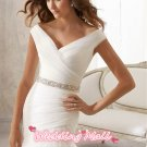 Bride Dress Mermaid Fashion White Chiffon Long Cathedral Train Custom Wedding Dress