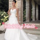 New Wedding Bride Dress Winter Dress Fashion A-Line Long White Custom Bride Wedding Dresses