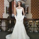 Sweetheart Backless Bridal Dress Fashion White Custom Size Mermaid Lace Wedding Dress