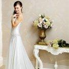 Wedding Dress Fashion Spaghetti Straps White A-Line Long Custom Size Wedding Dress