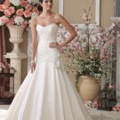 Custom Made White Sexy Backless Wedding Dress Sweetheart Appliques Long Mermaid Wedding Dress
