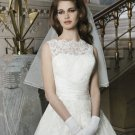Sexy Short Wedding Dress Lace Fashionable High Neck White Plus Size Wedding Dress