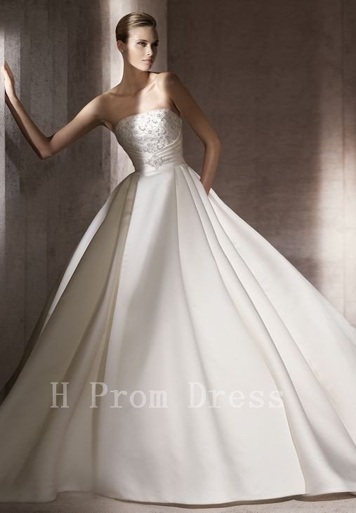 2016 Wedding Dress Bridal Dress Sleeveless Backless Beaded Romantic White Long Wedding Dress