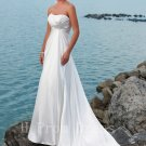 2016 Fashion Wedding Dress Lace Up White Sweetheart Plus Size Long Beach Wedding Dress