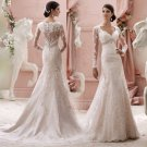 Fashionable Vintage Wedding Dress Designer Beaded Sweetheart Bridal Long White Lace Wedding Dresses