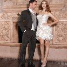 Sexy Short Wedding Dress Pearls A-Line Fashion Cheap White Wedding Dress Fast Shipping