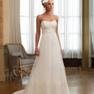 Sexy Lace Backle Wedding Dresses Open Back Ivory Pearls A-Line Sweetheart Long Wedding Dress