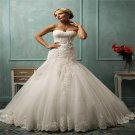 Sexy Mermaid Wedding Dress Elegant Sleeveless Sweetheart Long White Lace Wedding Dress