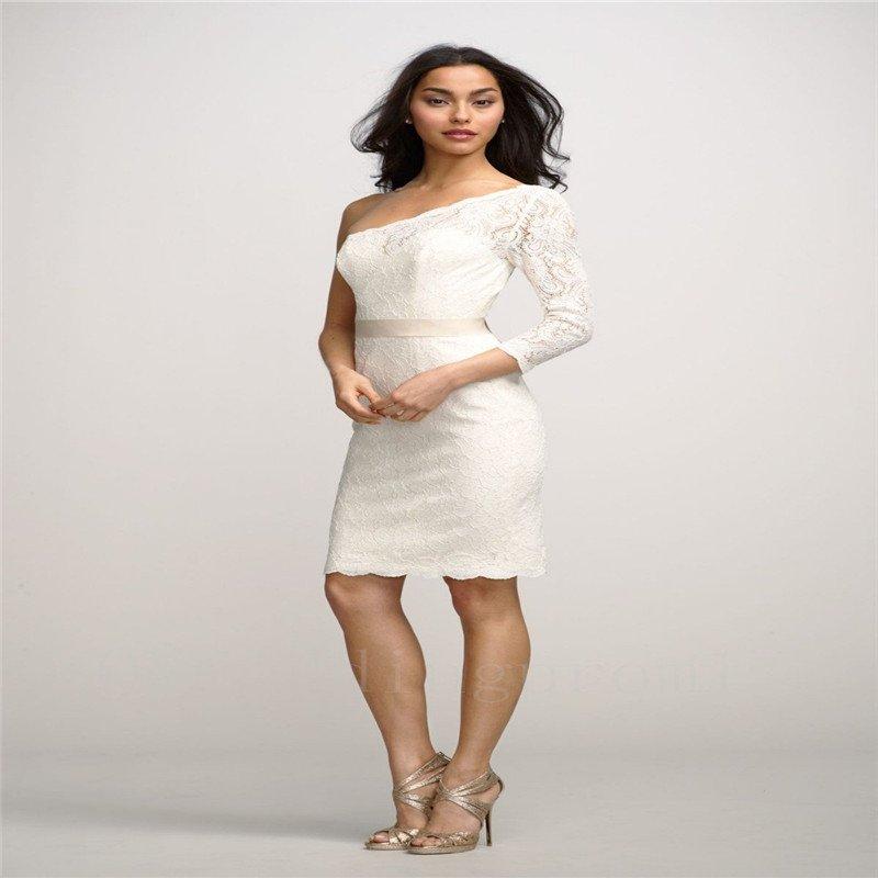 White Short Wedding Dress Romantic Sexy Backless One Shoulder Wedding Dress Bride Dresses