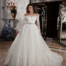 2016 Lace Wedding Dress Long Sleeve White Romantic A-Line Wedding Dress Bride Dresses Gowns