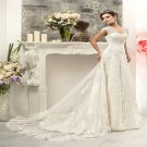 2016 Lace Wedding Dress Sexy V-neck White Long Mermaid Wedding Dress