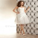Cheap White Short Wedding Dress Chiffon Sexy A-Line Backless Fashion Knee-Length Wedding Dress