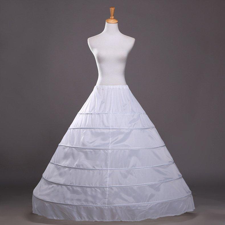 6 Rims Bride Wedding Panniers A-line Petticoat Bridal Petticoat