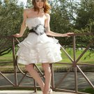 New Wedding Ceremony Woman Dress Chiffon A-Line White Short Wedding Dress