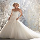 Vintage Lace Up Wedding Dress Beads Sweetheart Bridal Long White Lace Wedding Dresses