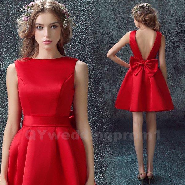 Short Prom Dress Homecoming Dress Red Cheap Short Evening Dress