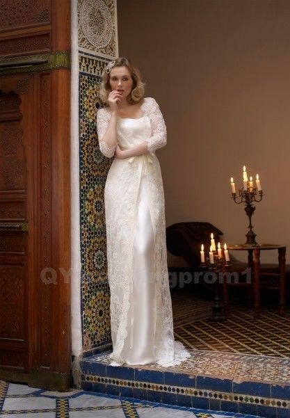 Lace Wedding Dress White Lace Wedding Bride Dress Long Wedding Dresses