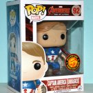 Funko Pop Captain America Unmasked Vinyl Figure #92 Asia Exclusive 2015