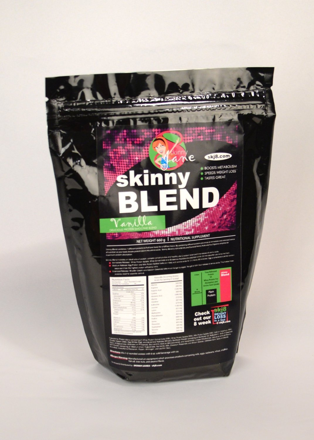 Skinny Blend - Best Tasting Protein Shake for Women Weight Loss 30 Shakes per Bag (Vanilla)