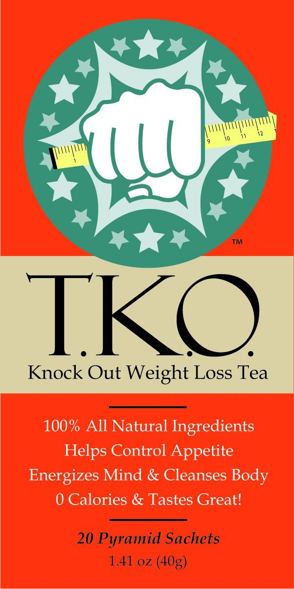 TKO Knock Out Weight Loss Tea, All Natural Dieter's Tea, Boosts Metabolism (Sweet Mint) 20 Sachets