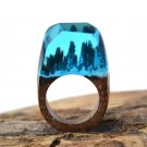 Winter Wonderland Wood Resin Ring Women's Sizes 6-9- Endless August