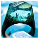 Undersea Magic Wood Resin Ring Women's Sizes 6-9-Endless August
