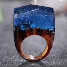 Magic Snow Wood Resin Ring Women's Sizes 6-9 -Endless August