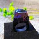 Northern Lights Wood Resin Ring Women's Sizes 7-9 - Endless August