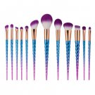 12Pcs Unicorn Makeup Brushes Cosmetic Tool Kit Eyeshadow Powder Brush Set
