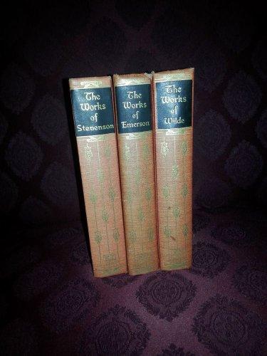 3-Rare-1927Classic Ralph Waldo Emerson,OSCAR WILDE,ROBERT LOUIS STEVENSON HC-Vtg