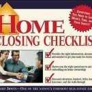 Home Closing Checklist by Robert Irwin 2004 Paperback