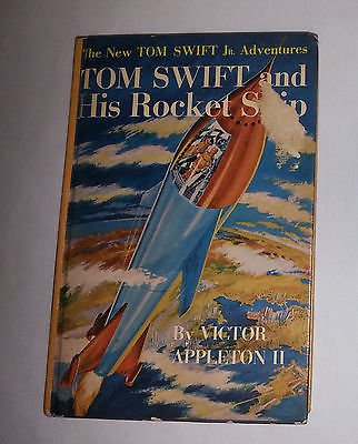 1954 VintageTOM SWIFT AND HIS ROCKET SHIP SCI FI Boys Adventure Series Book HBDJ