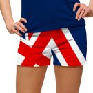 Loudmouth golf women MINI SHORTS UNION JACK Size 4 red white blue 2085