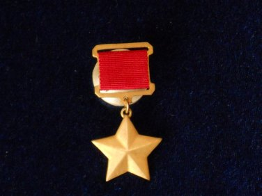 Medal Gold Star Hero of the USSR #10583
