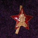 Badge Railroad Star Soviet Union #10764