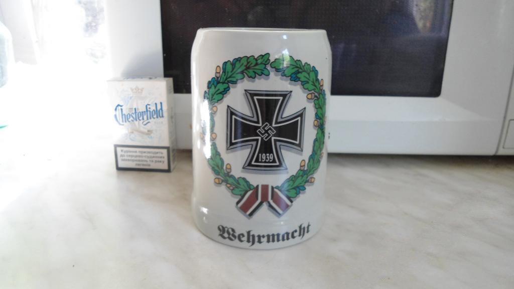 World War II Germany wineglass glass of beer, a cup, cross  #4