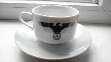 World War II Germany coffee cup and saucer set  #20